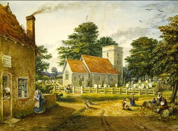 St Mary's Church, Kings Worthy, Circa 1855